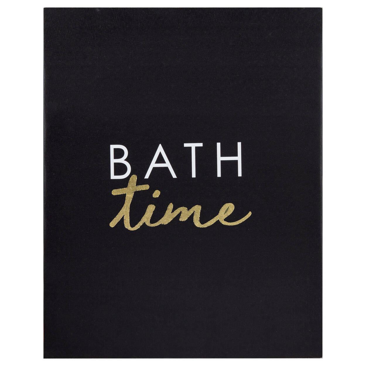 Bath Time Printed Canvas