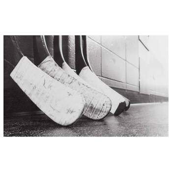 Hockey Sticks Printed Canvas