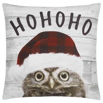 "Ho Ho Ho Decorative Pillow Cover 18"" X 18"""