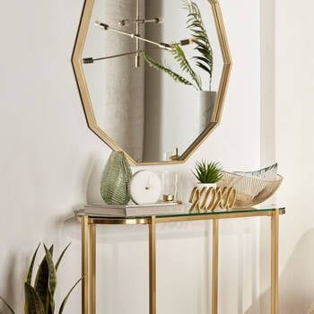 Glass and Gold Console Table