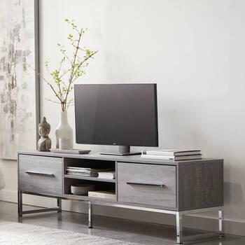 Veneer & Metal Media Console