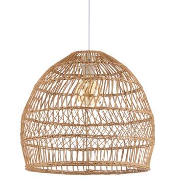 Lampe suspendue en rotin naturel