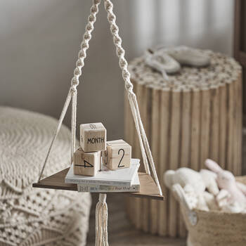 Hanging Shelf with Macramé