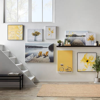 Dried Flowers Printed Canvas