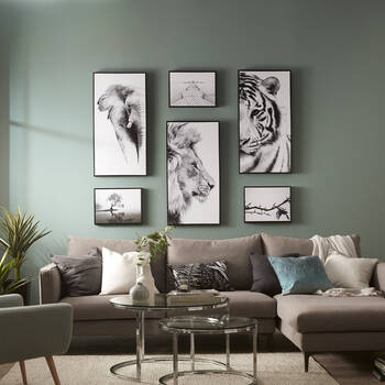 Lion Profile Framed Art