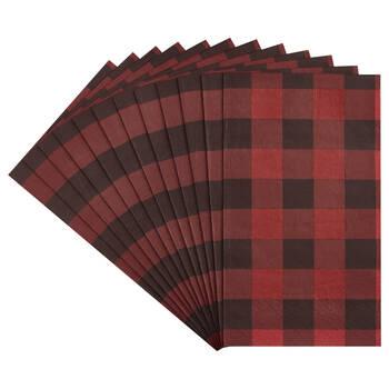 Pack of 20 Buffalo Plaid Paper Napkins