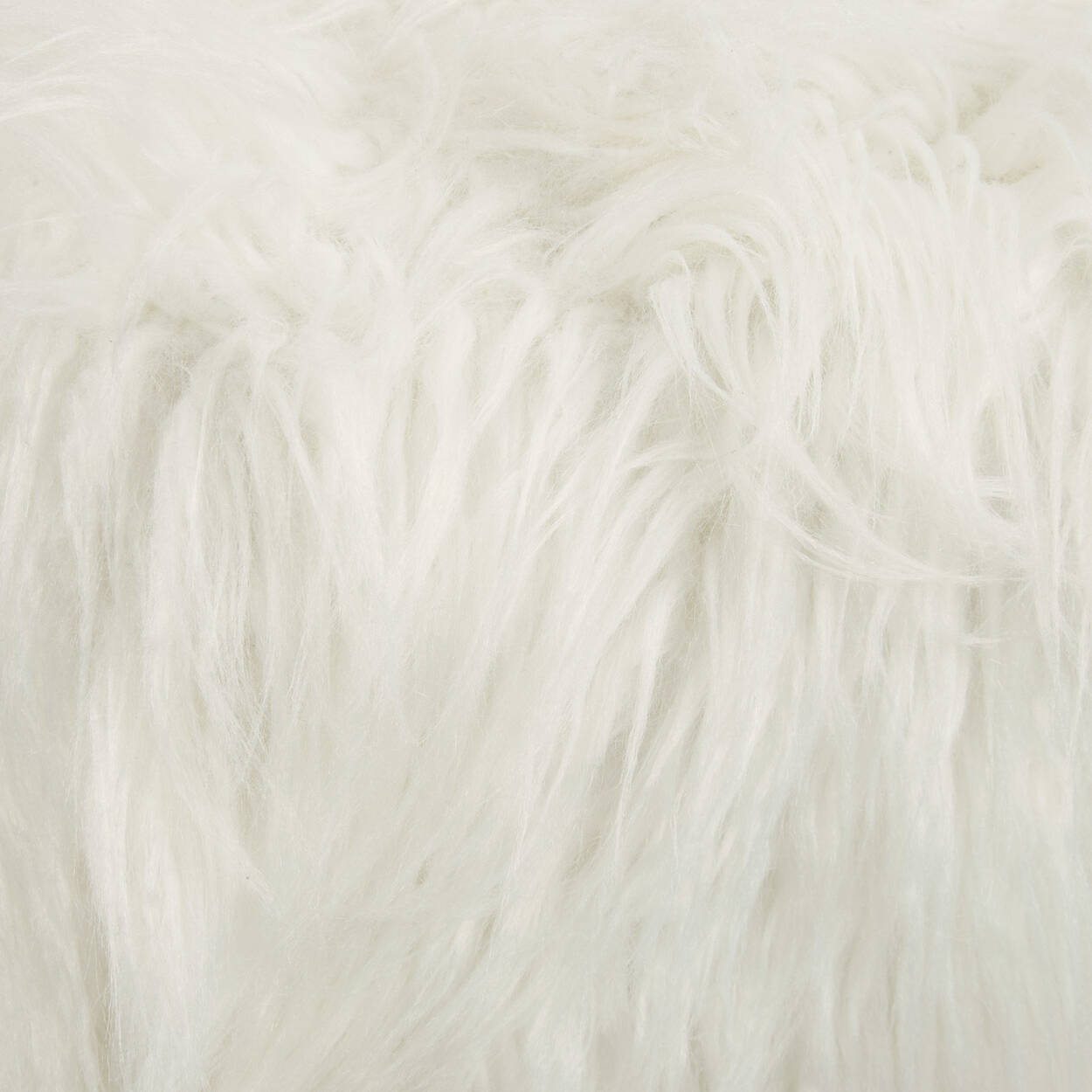 Faux Fur Ottoman