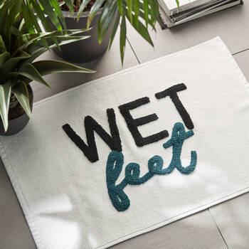 Wet Feet Typography Bath Mat