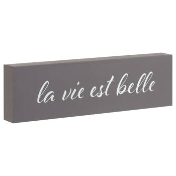 Decorative Block La Vie