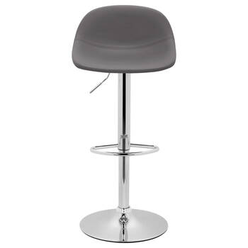 Faux Leather & Metal Adjustable Bar Stool