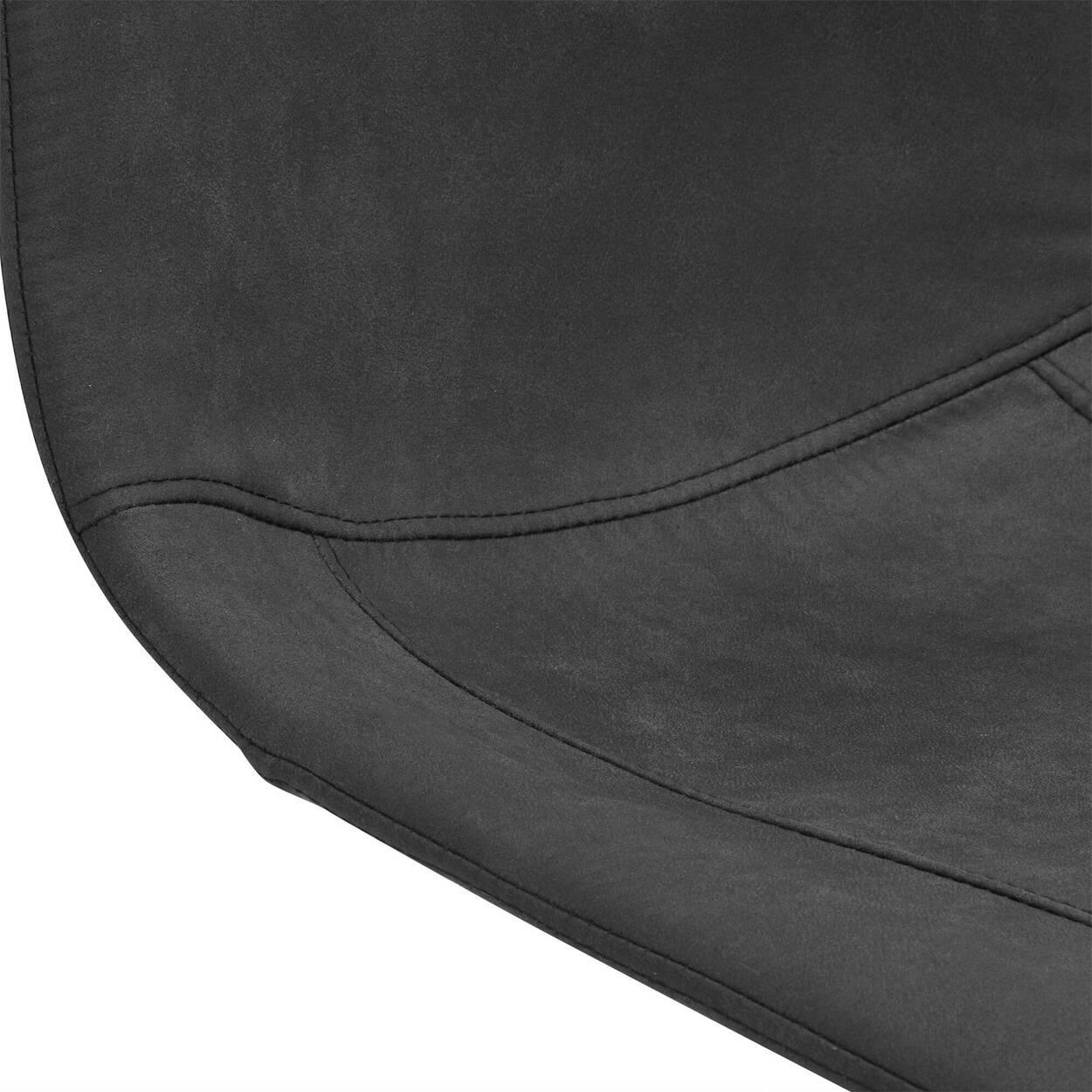 Tabouret de bar ajustable en similicuir texturé et en métal