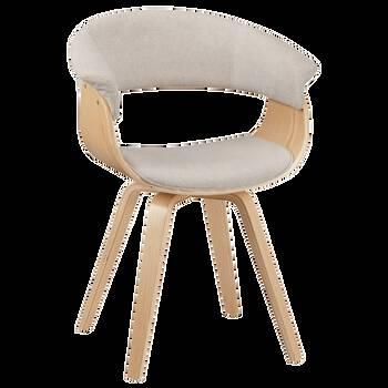 Chaise en tissu et bois naturel