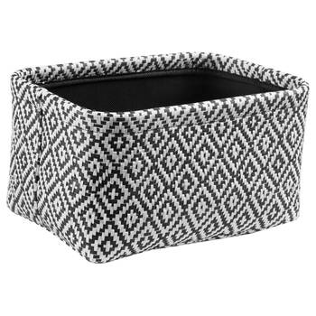 Black and White Storage Basket