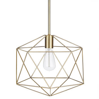 Gold Metal Wire Ceiling Lamp