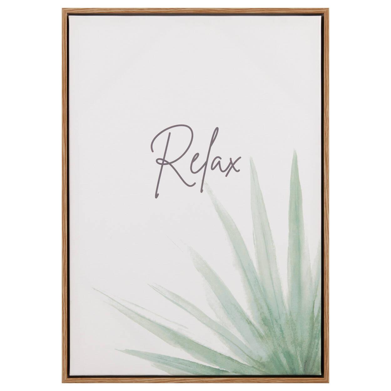 Tableau imprimé feuille de sauge et Relax