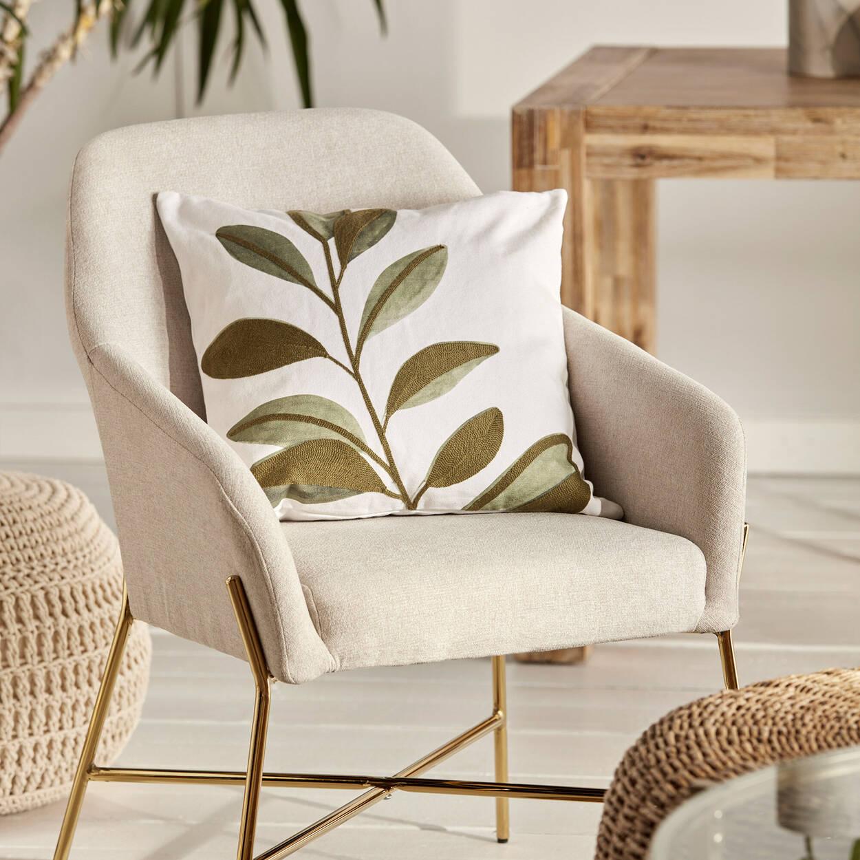 "Leaf Printed Elaine Decorative Pillow 19"" x 19"""