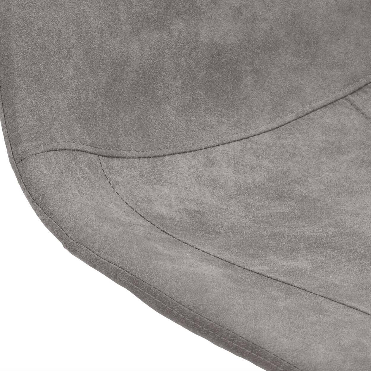 Tabouret en similicuir texturé et en chrome