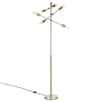 Gold Metal Sputnik Floor Lamp