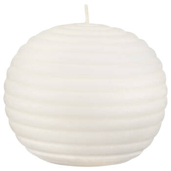 Round striped candle