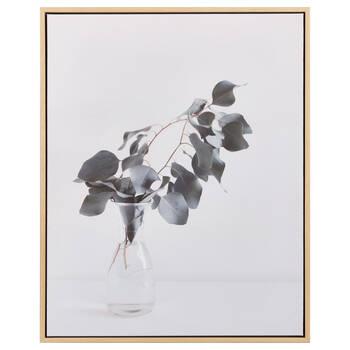 Eucalyptus in Vase Framed Canvas