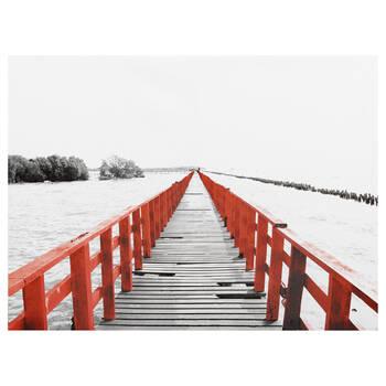 Red Bridge Printed Canvas