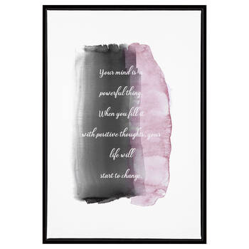 Your Mind Typography Printed Canvas