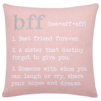 "BFF Decorative Pillow 18"" X 18"""