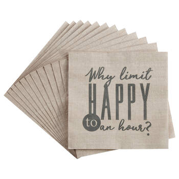 Set of 20 Happy Table Napkins