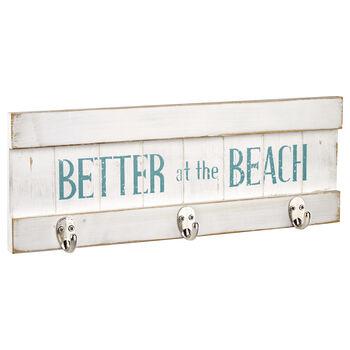 Ensemble de 3 crochets sur plaque murale de plage