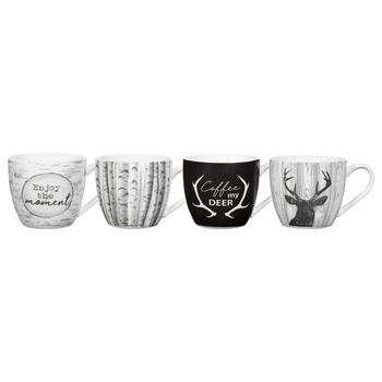 Set of 4 Enjoy The Moment Mugs
