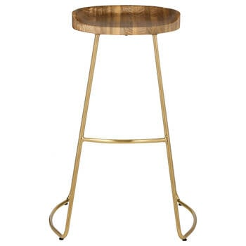 Wood and Metal Bar Stool