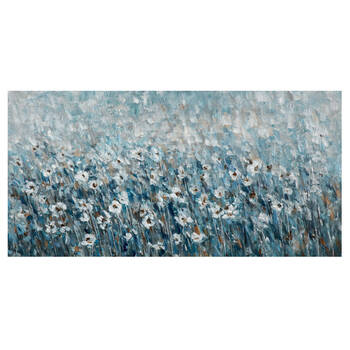 Oil-Painted Flower Field Canvas