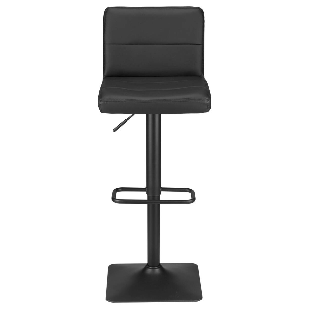 Pleasant Matte Faux Leather And Metal Adjustable Bar Stool Short Links Chair Design For Home Short Linksinfo