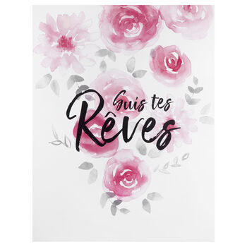 Suis tes Rêves Typography Canvas