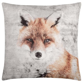 "Fox Decorative Pillow 19"" X 19"""
