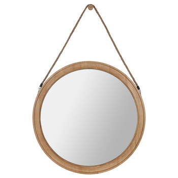 Round Hanging Mirror with Rope