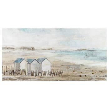 Beach Houses Oil Painted Canvas