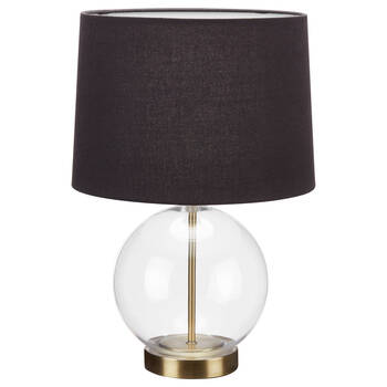 Glass and Fabric Table Lamp