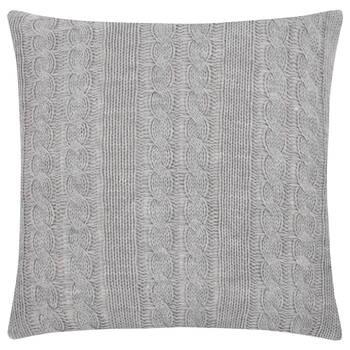 "Amy Knit Decorative Pillow 18"" X 18"""