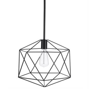 Black Wire Ceiling Lamp