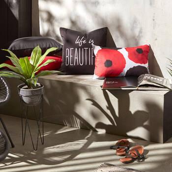 "Poppy Water-Repellent Decorative Lumbar Pillow 13"" X 20"""
