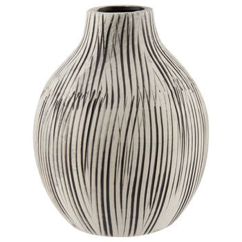 Striped Cement Table Vase
