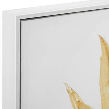 Golden Pineapple Framed Printed Canvas