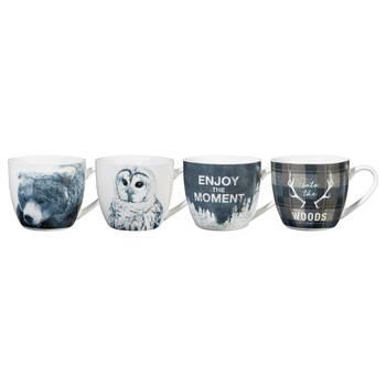 Set of 4 Into the Woods Mugs