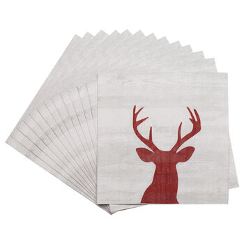 Pack of 20 Deer Paper Napkins
