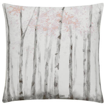 "Pink Birches Decorative Pillow 19"" X 19"""