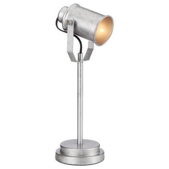 Galvanized Metal Spotlight Table Lamp
