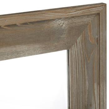Miroir avec cadre en bois flottant