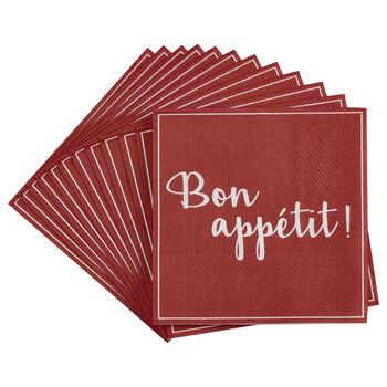 Set of 20 Bon Appétit Table Napkins