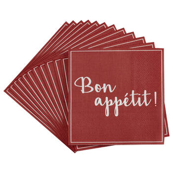 Set of 20 Bon Appétit Table Napkins
